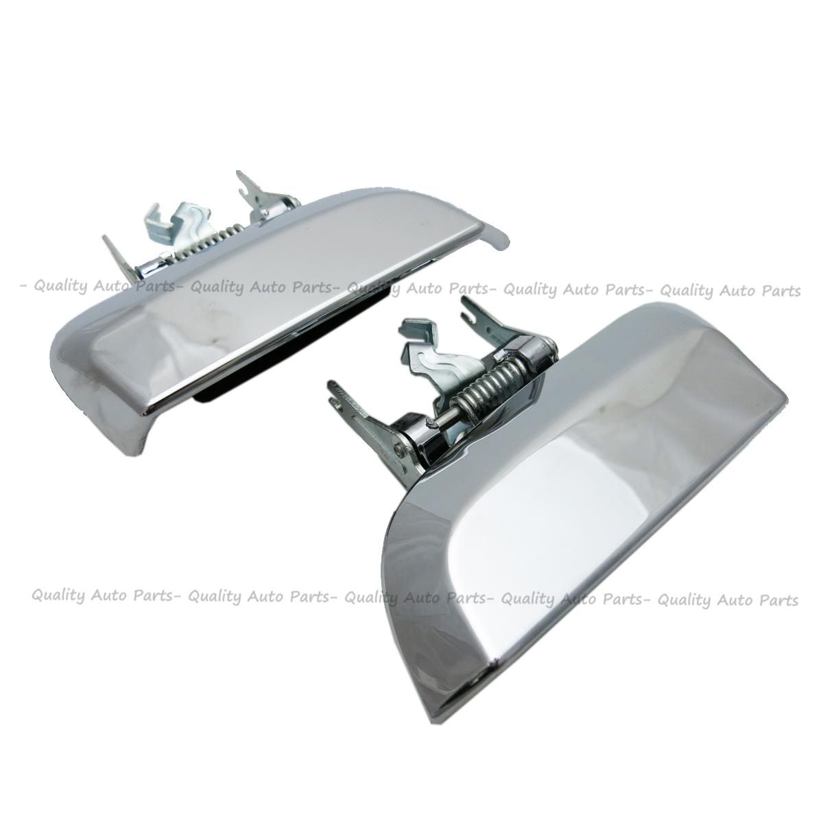 Door Handle Pair Inner Black Chrome Lever For Nissan Pathfinder R51 2005-2013